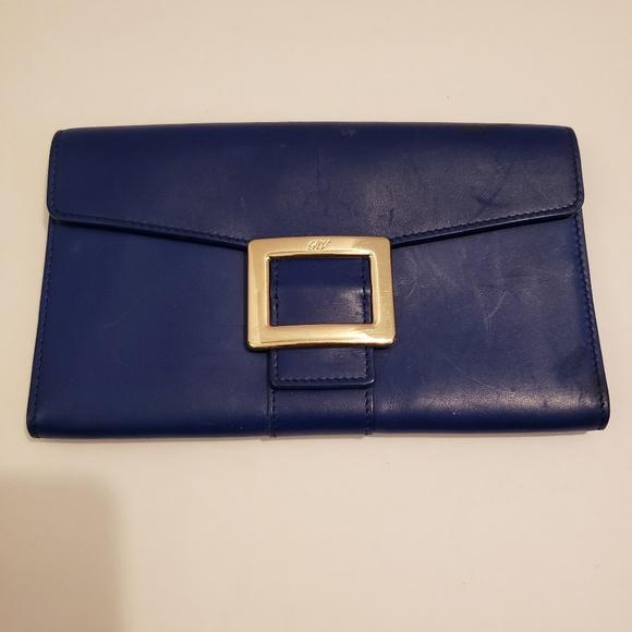 Roger Vivier Handbags - Roger Vivier royal blue leather wallet
